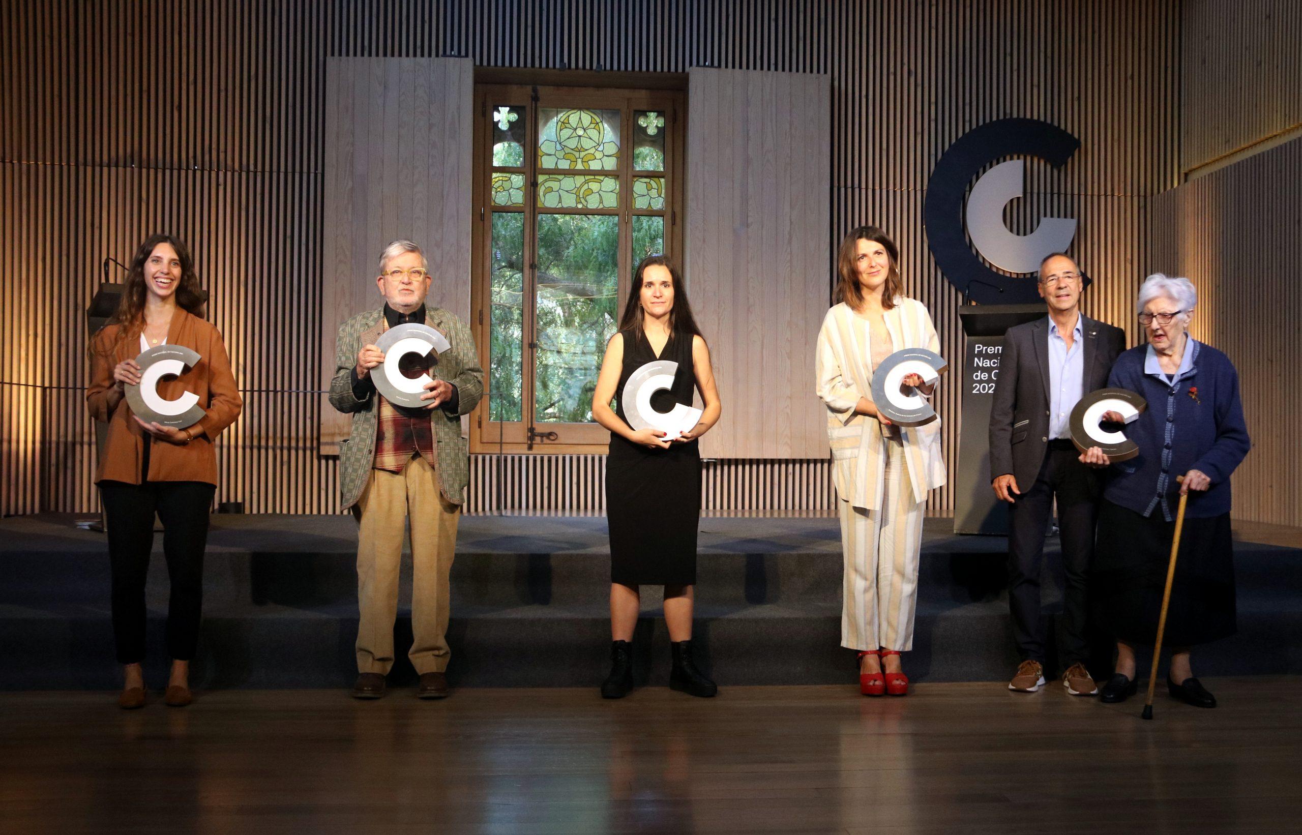 Els cinc Premis Nacionals de Cultura 2021, fotografiats al recinte modernista de Sant Pau aquest dijous 27 de maig | ACN