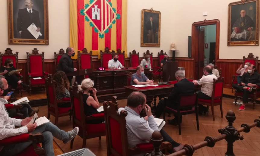 Carles Caballero intervnint en el ple municipal de maig de Terrassa | ERC
