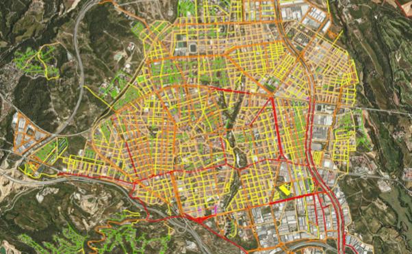 Mapa del soroll a Terrassa