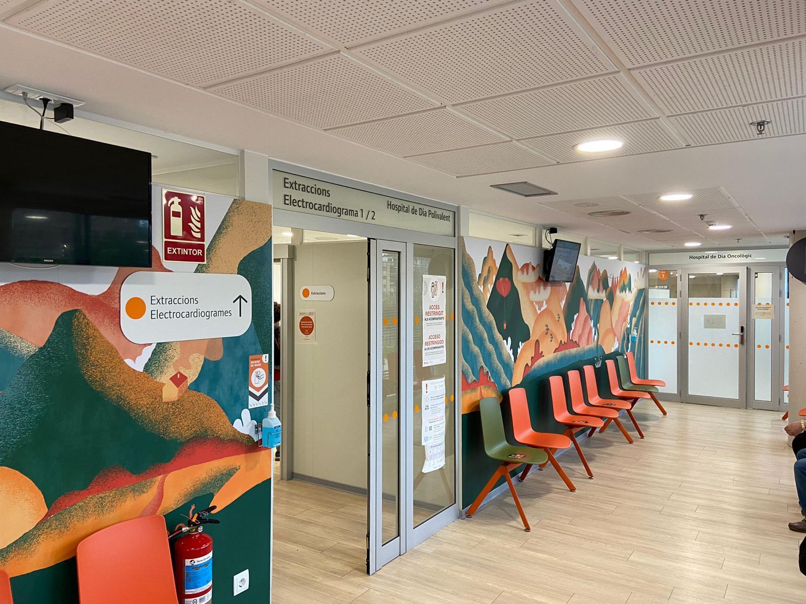 Mútua Terrassa incorpora la decoració a Oncologia