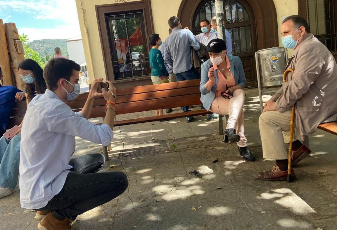 Anna Grau amb el regidor de Ciutadans de Matadepera | Matadepera.cat