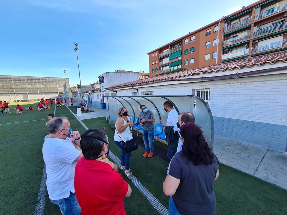 Trobada de membres de la junta directiva del club amb l'alcalde i el regidor d'Esports | Aj. Terrassa