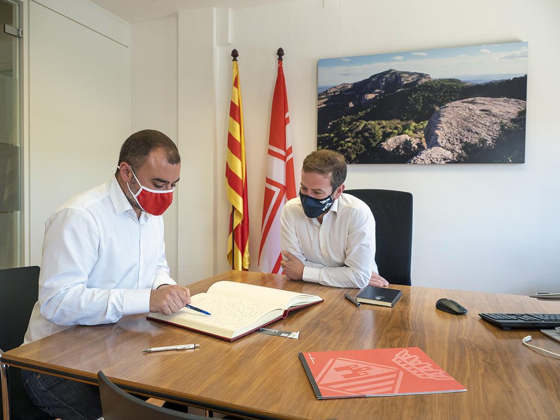 Els alcaldes de Terrassa, Jordi Ballart, i Matadepera, Nil López | Miquel Badia