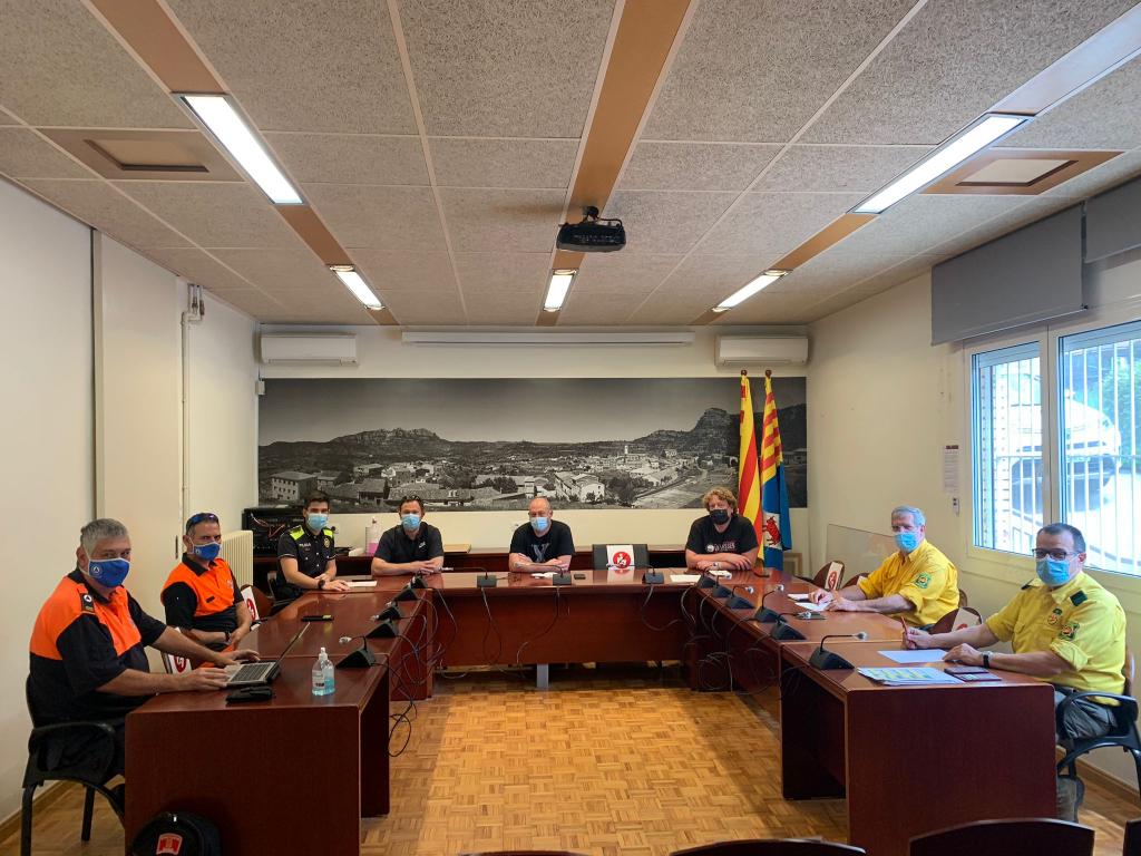 Reunió dels cossos d'emergències i ajuntament per a la campanya de prevenció d'incendis | Aj. Vacarisses