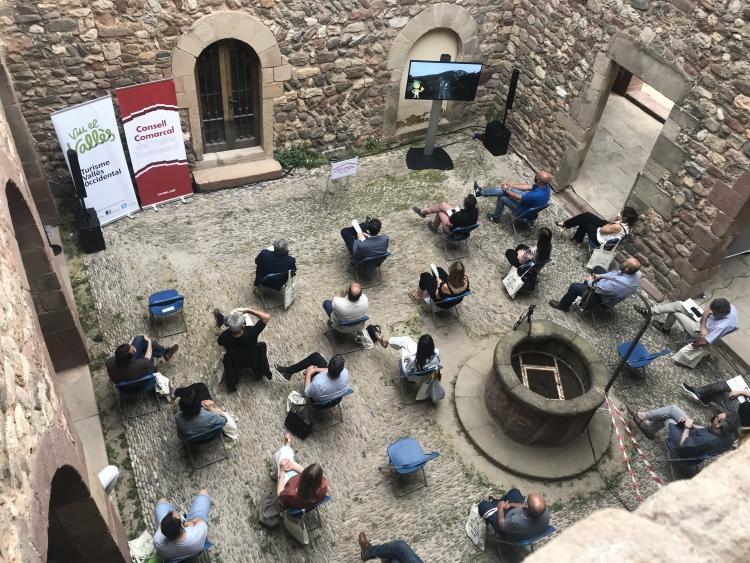La presentació es va fer al claustre del Castell Cartoixa de Vallaparadís de Terrassa   CCVO