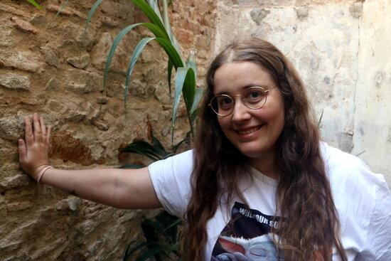 L'autora de 'I van passar tants anys', Natàlia Cerezo, a la llibreria Byron de Barcelona, el 8 de juny del 2021 (Horitzontal)