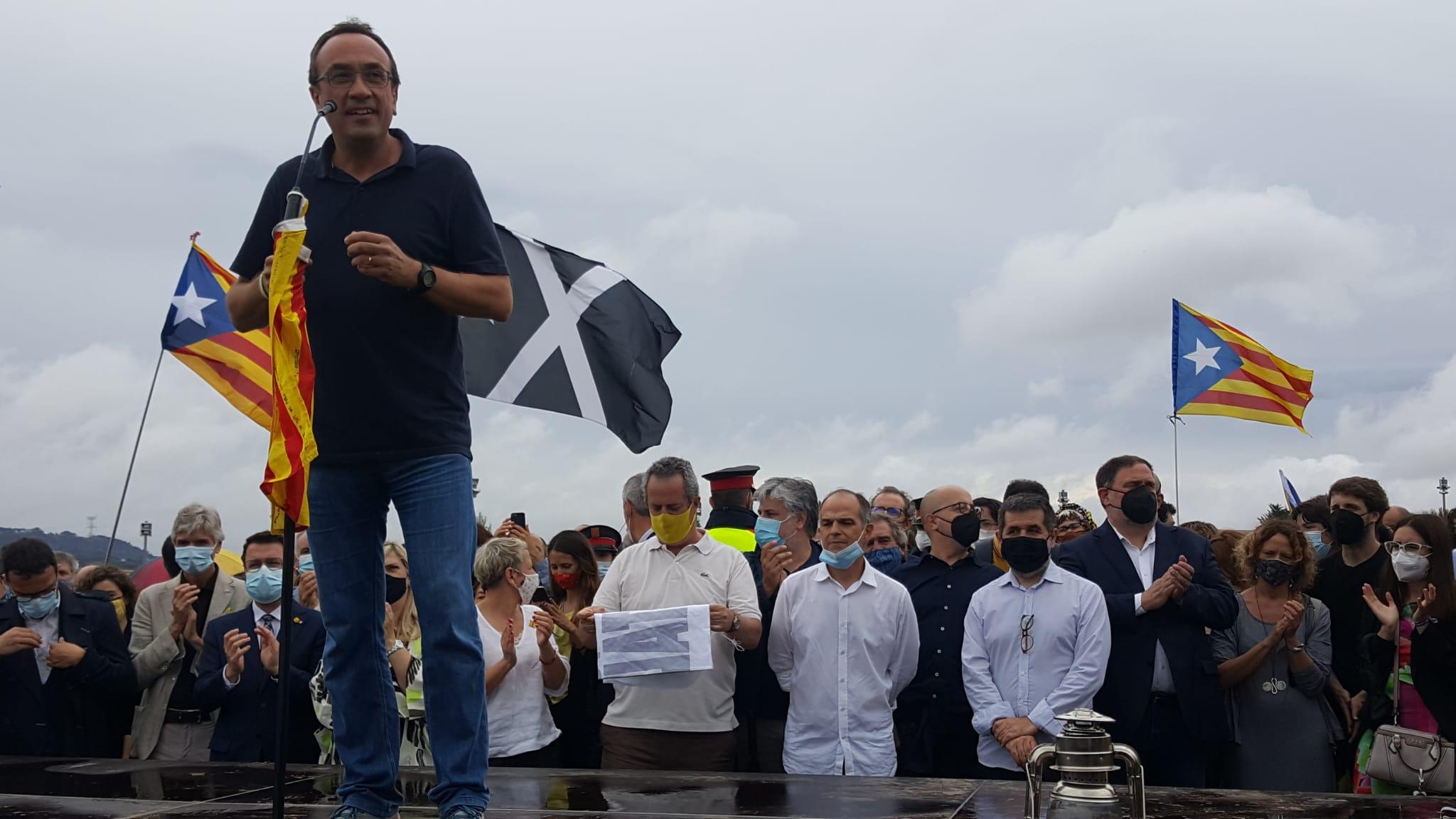 Josep Rull, en el parlament just després de sortir de Lledoners   Cristóbal Castro