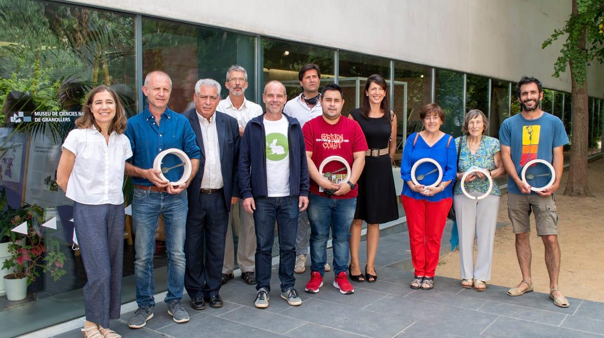 Guanyadors dels premis Parc a taula 2021 al Museu de Ciències Naturals de Granollers Foto: XPN / Diputació de Barcelona