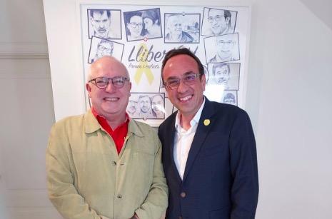 Lluís Puig i Josep Rull s'han pogut retrobar en persona