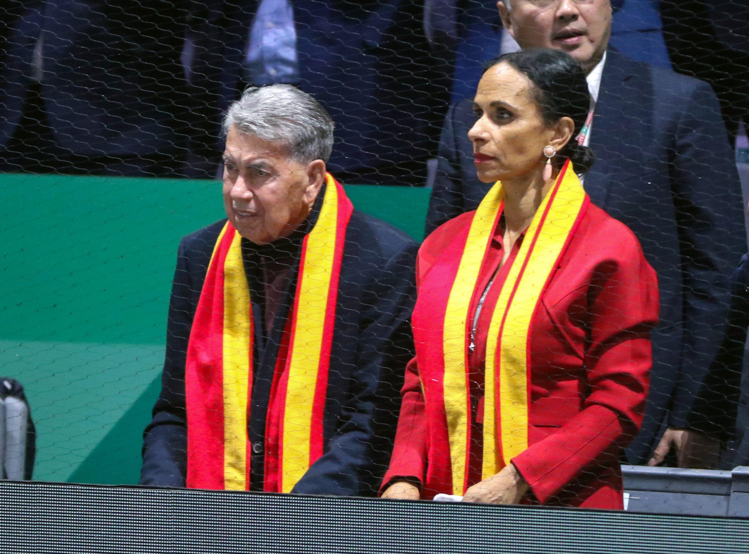 Manolo Santana i la seva dona, Claudia   Europa Press