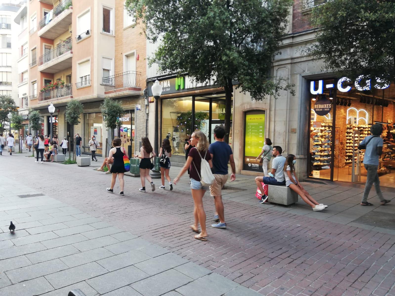 El carrer Major de Terrassa, un dels pols comercials | Anna Solernou