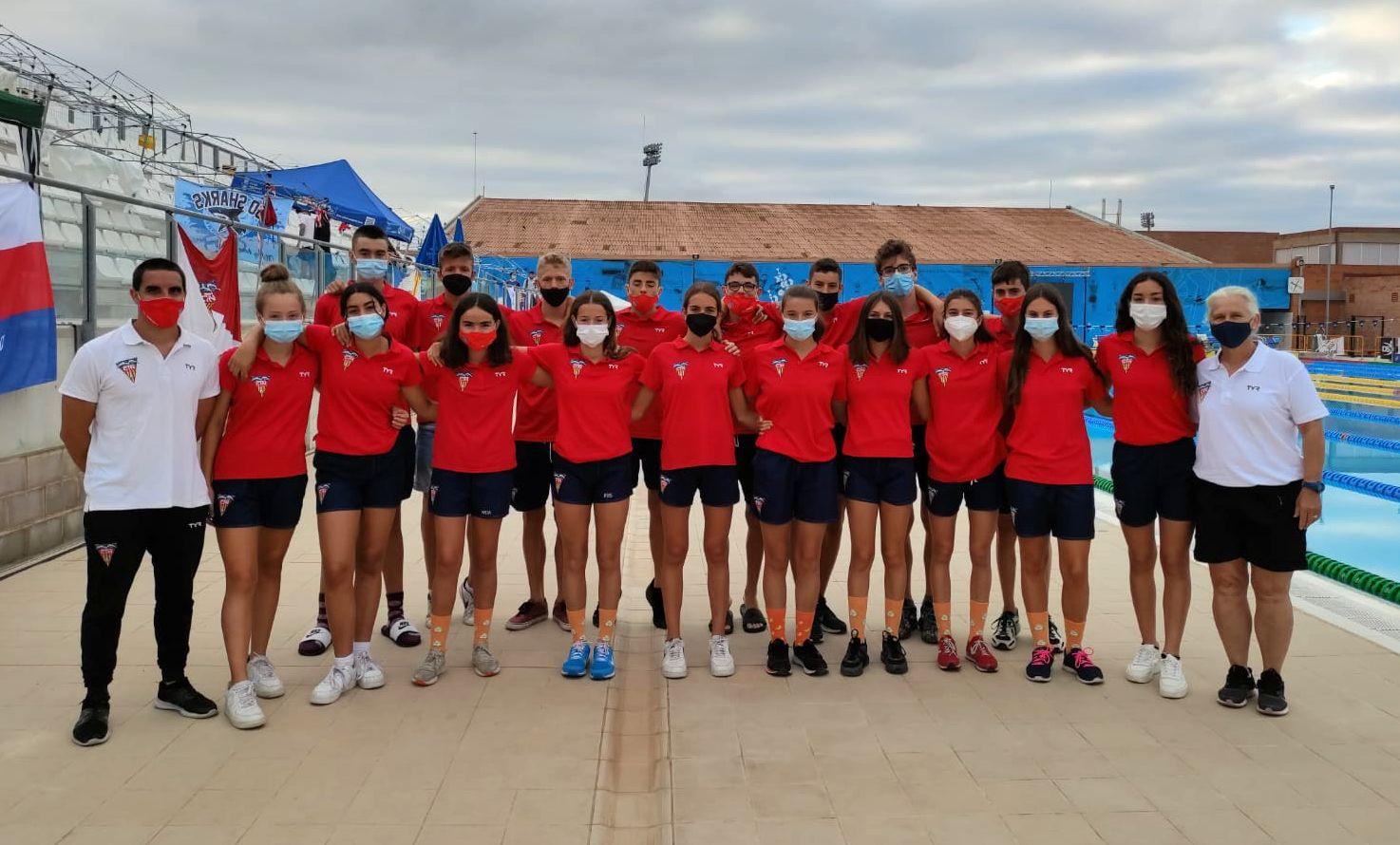 Equip de l'infantil que ha participat en el campionat de Catalunya de natació | CN Terrassa