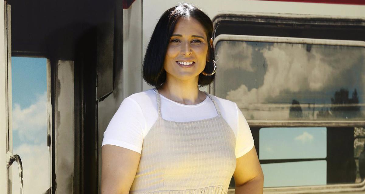 Rosa López, en una presentació en públic - Europa Press