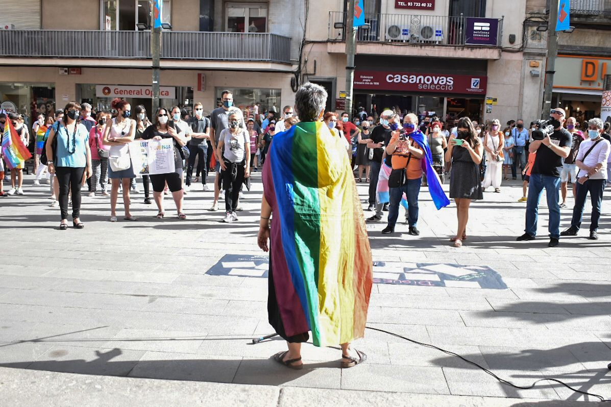 Concentració contra la LGTBIfòbia a Terrassa   Arnau Alcalà