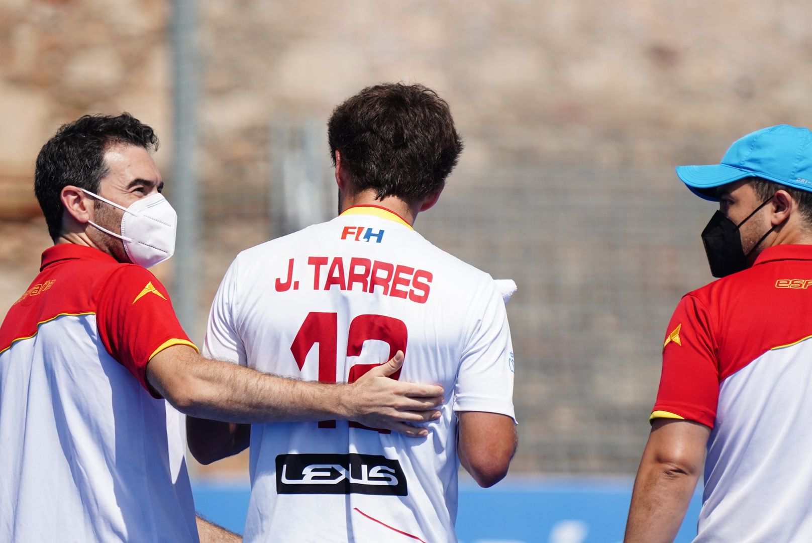 Joan Tarrés, amb la selecció espanyola d'hoquei | RFEH