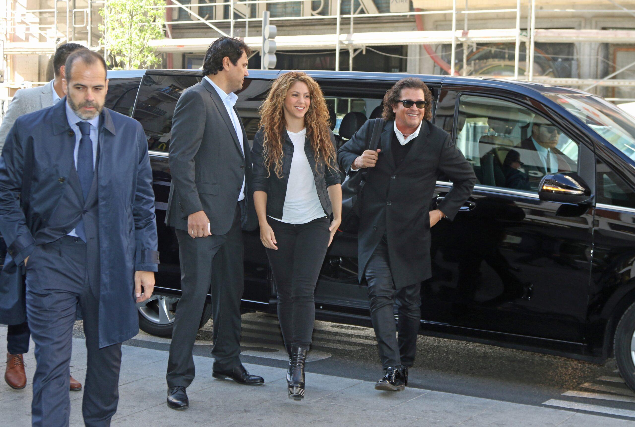 Shakira, a l'arribada als jutjats - Europa Press