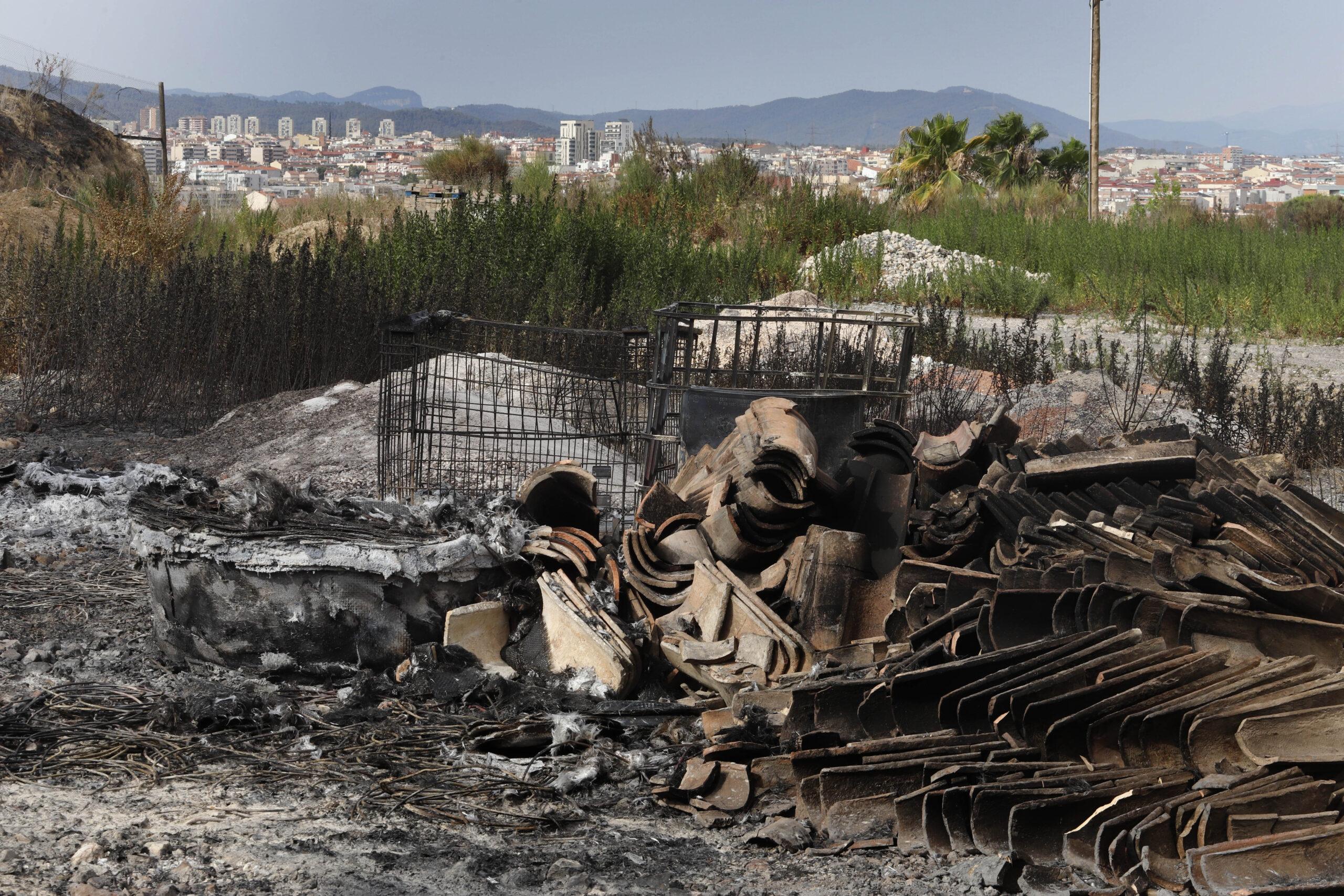 Les Martines vistes per Cristóbal Castro el dia després del gran incendi/Cristóbal Castro