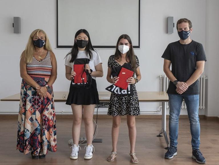 Linyuxiu Zhong i Mireia Navarro van ser rebudes a l'Ajuntament/Matadepera