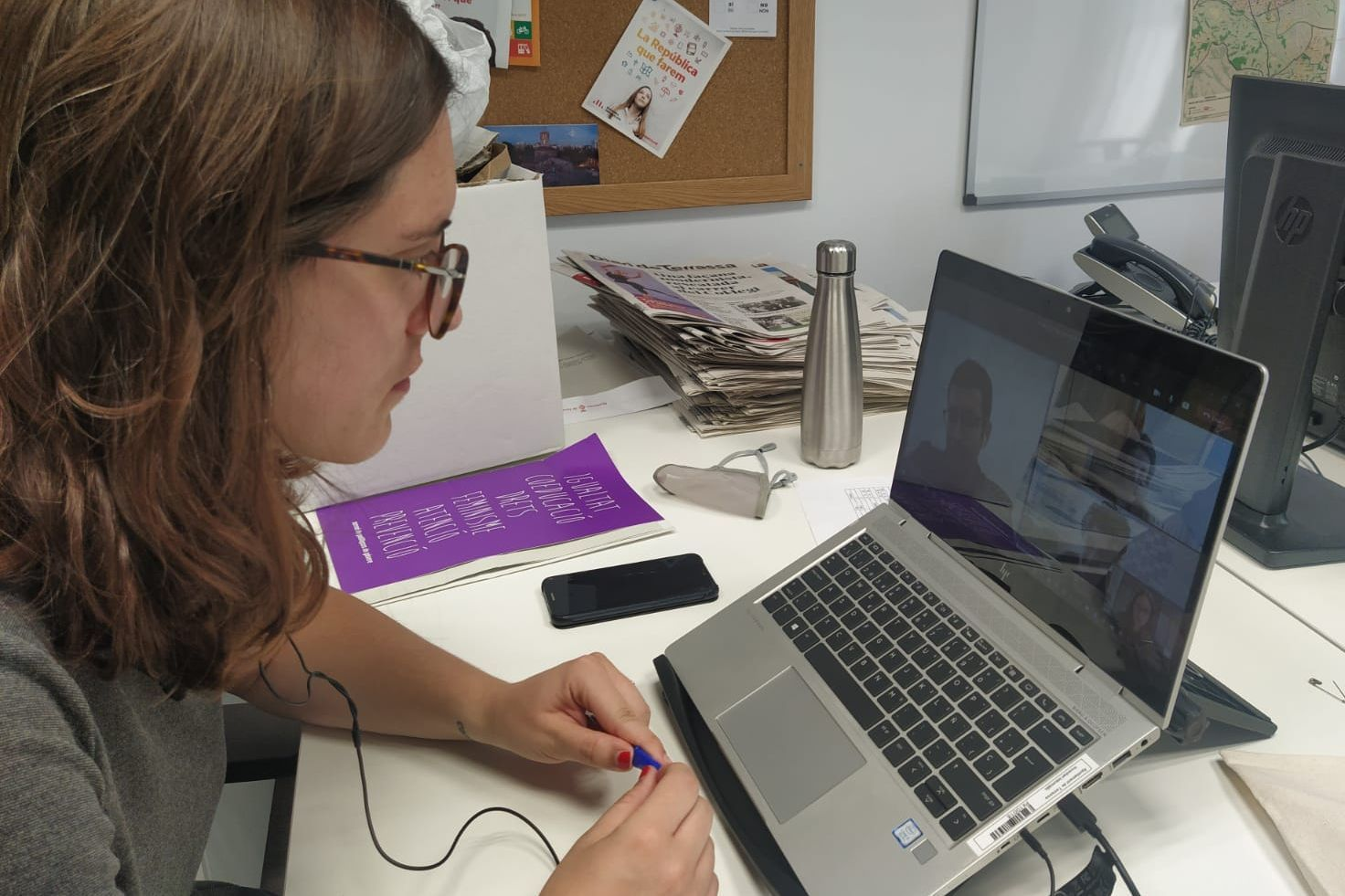 La regidora de Joventut, Ona Martínez, s'ha reunit avui amb el director general de Joventut de la Generalitat de Catalunya/A.T.