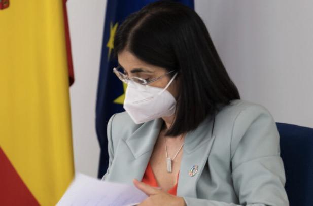 La ministra de Sanitat, Carolina Darias, durant el Consell Interterritorial de Salut Pública del 14 de juliol del 2021 a Madrid / ACN