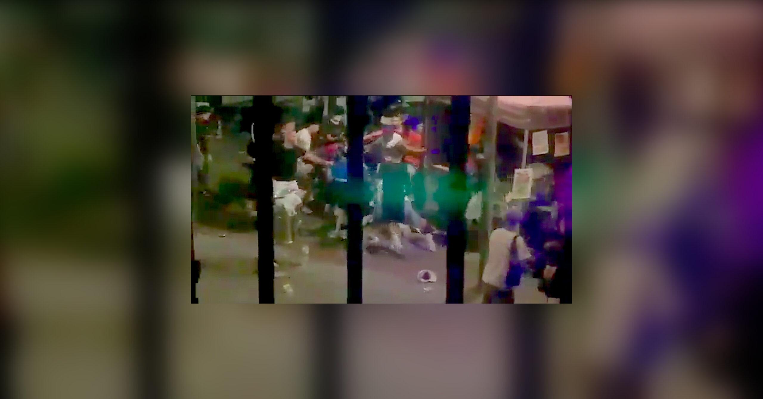 La baralla de la plaça de Didó / Imatge del vídeo gravat per un testimoni