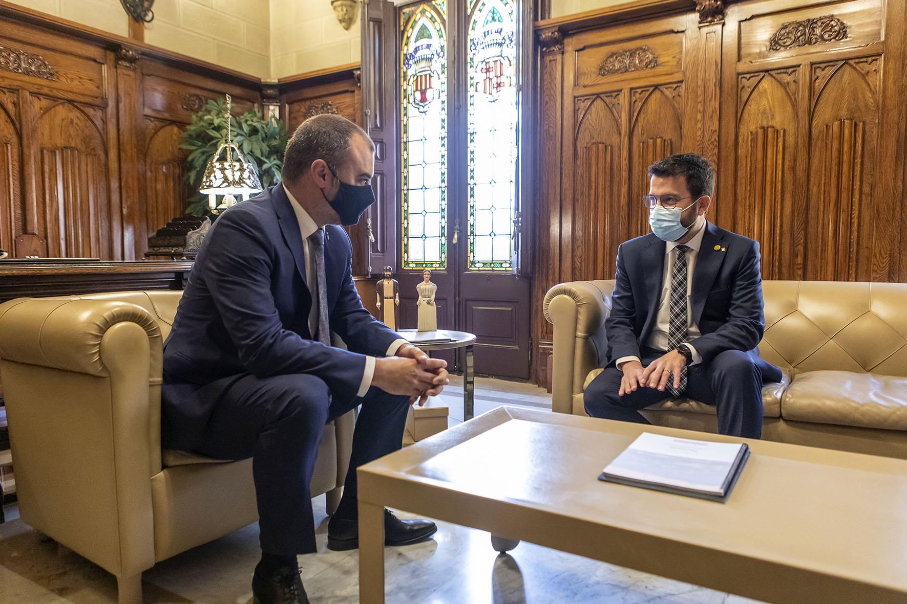 Jordi Ballart i Pere Aragonès a l'alcaldia/Rafel Casanova - BCF