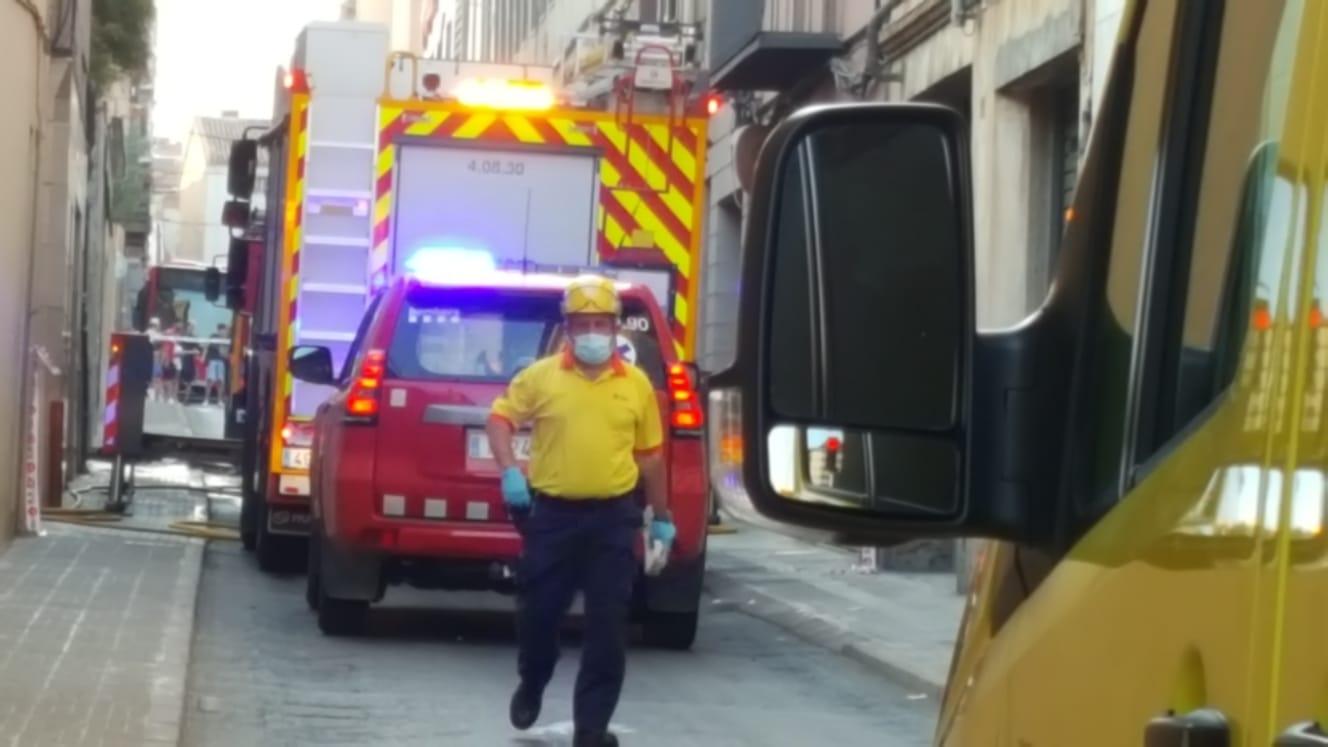 Incendi al carrer de Garcia Humet de Terrassa/Cristóbal Caatro