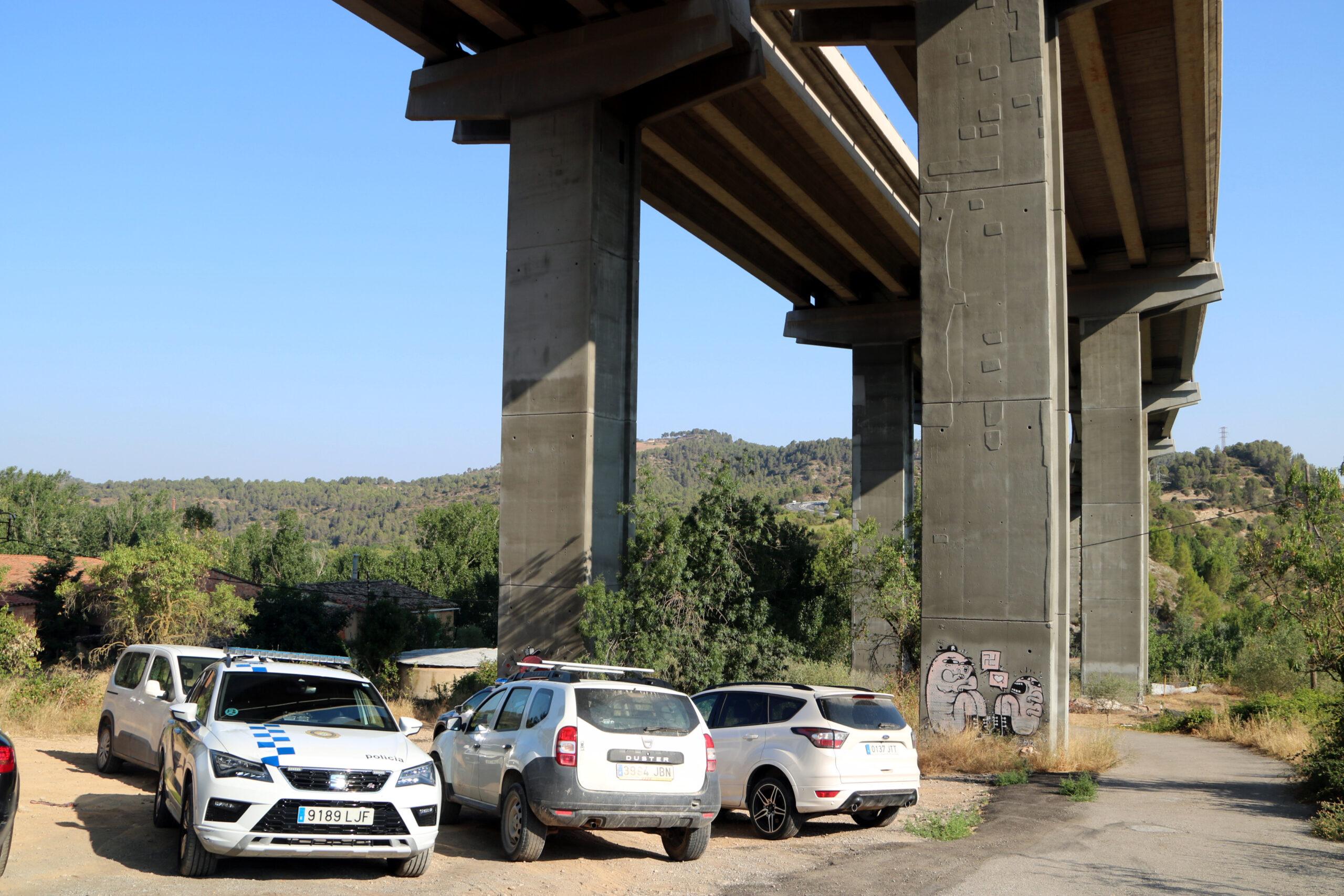 Punt d'accés a la zona on s'ha comès el delicte, en una zona de matolls entre el Pont de Vilomara i Sant Vicenç de Castellet/ACN