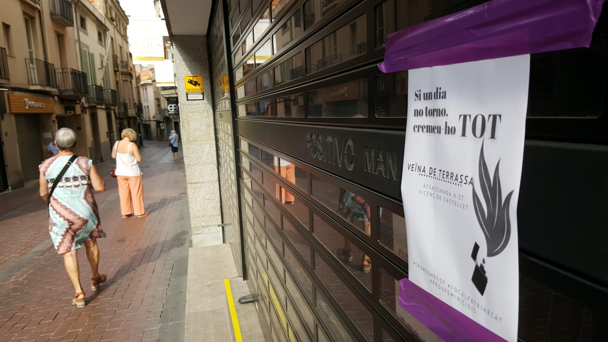 Cartell contra el nou femenicidi d'una dona a Terrassa | Cristóbal Castro