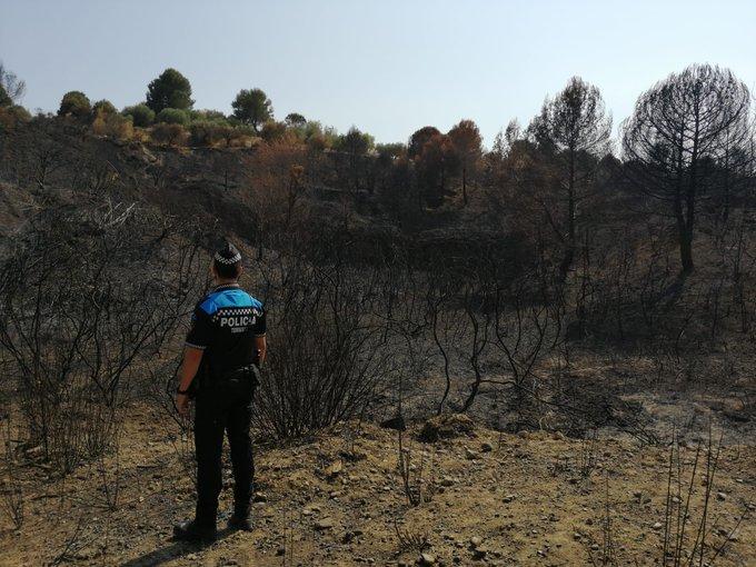 Incendi forestal a Terrassa | Policia Municipal de Terrassa