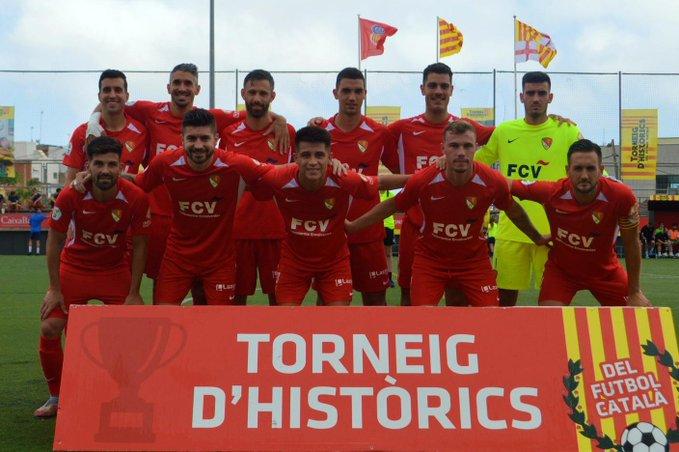 L'onze inicial del Terrassa FC en la semifinal del Torneig d'HIstòrics 2021 | Juanma Medina