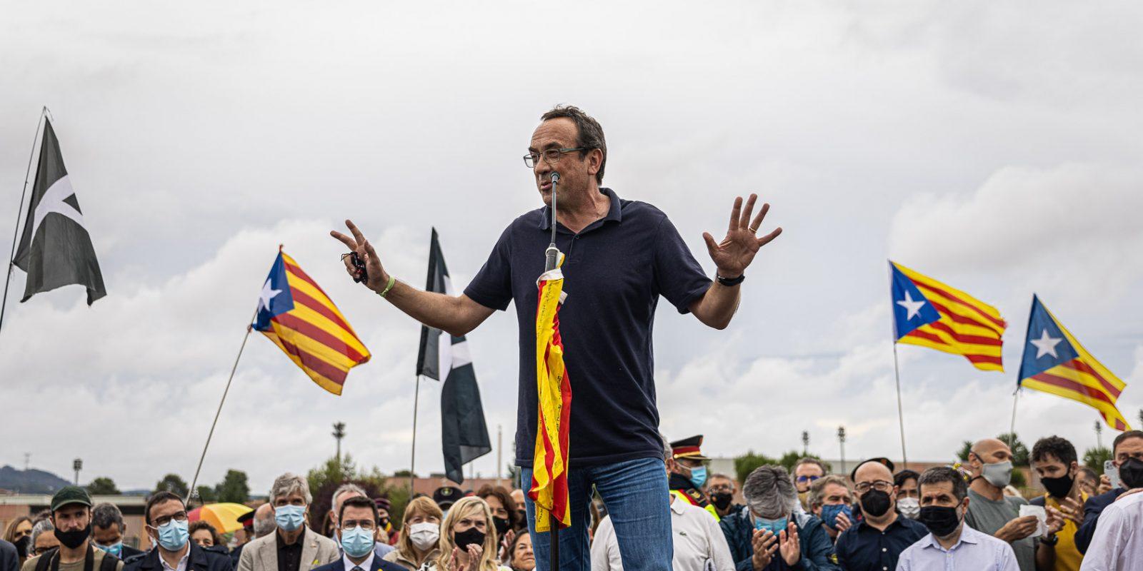 Rull, el dia de l'alliberament dels presos polítics de l'1-O per l'indult, a la sortida de Lledoners / Jordi Borràs