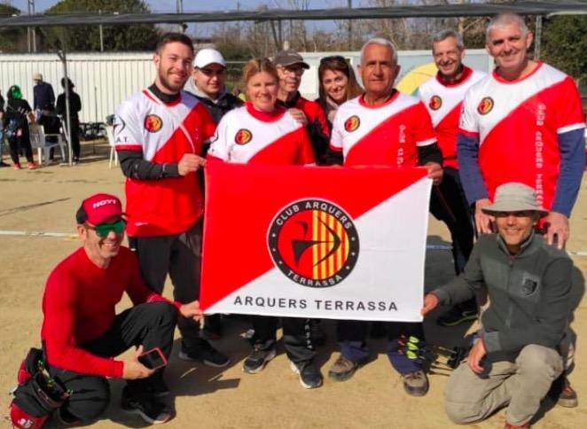 Membres del Club d'Arquers Terrassa