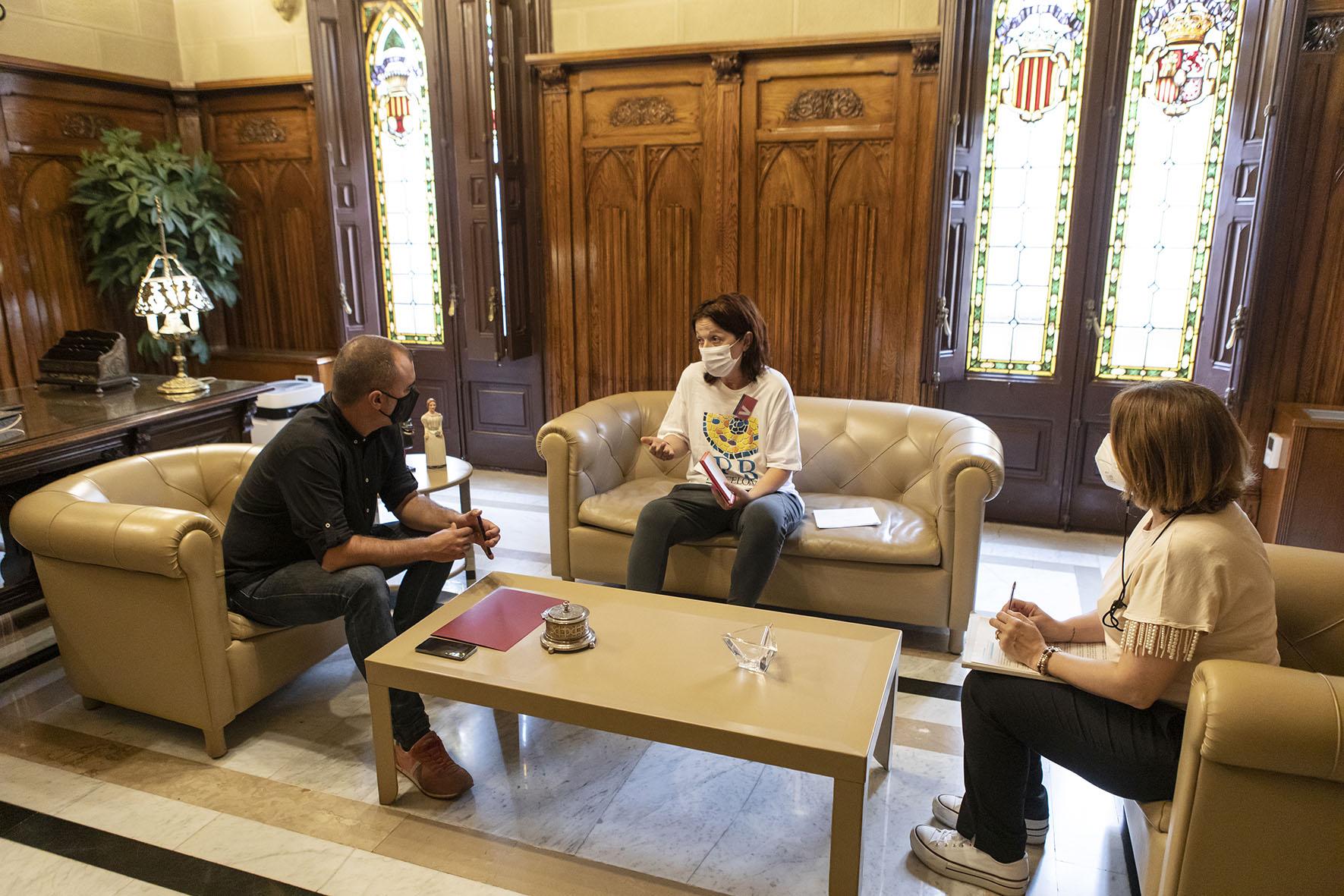 Reunió Ester Lizandra amb l'alcalde pel projecte #RepteMetàstasi | Rafel Casanova BCF
