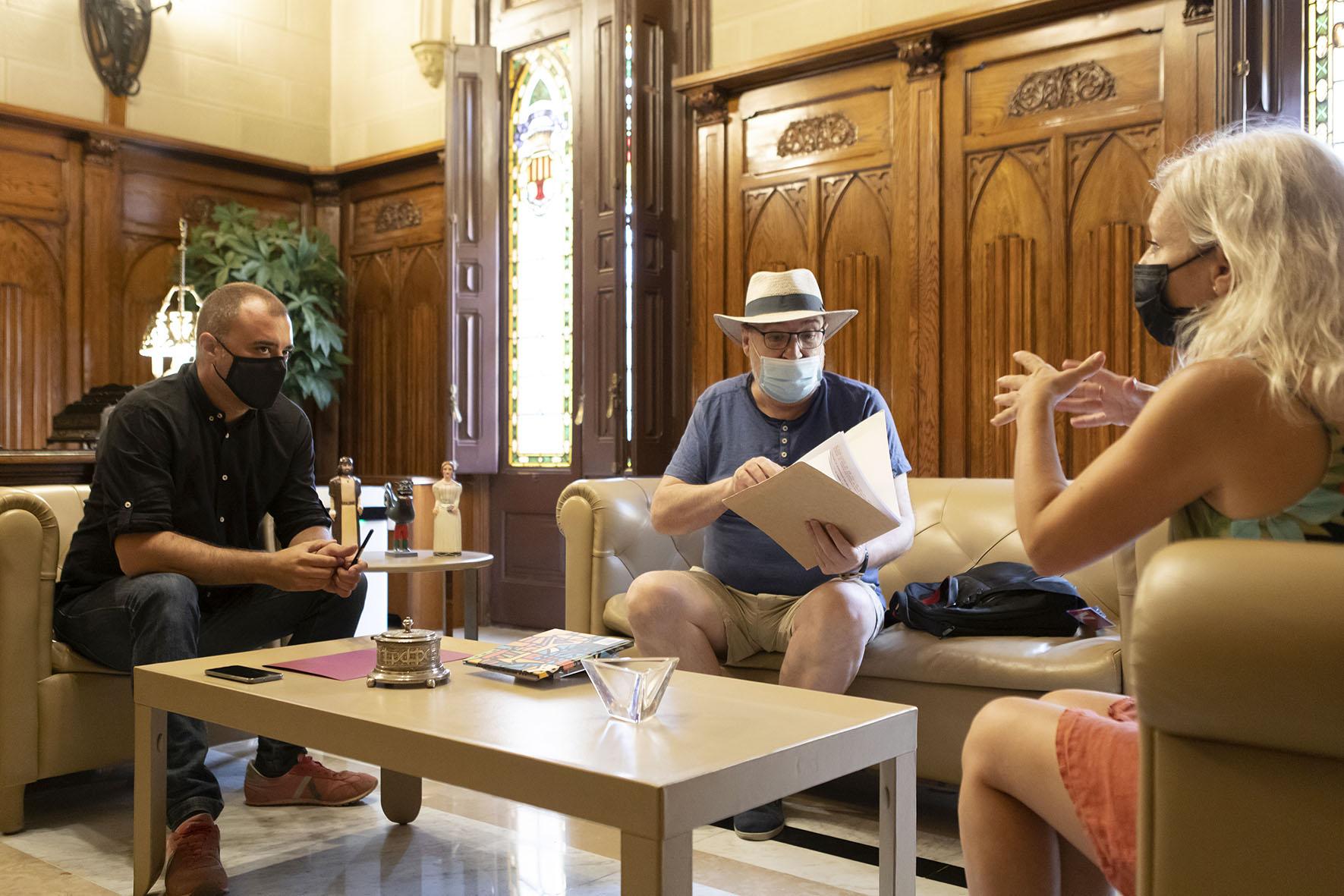 Reunió Miquel Pujadó amb l'alcalde Jordi Ballart | Rafel Casanova BCF