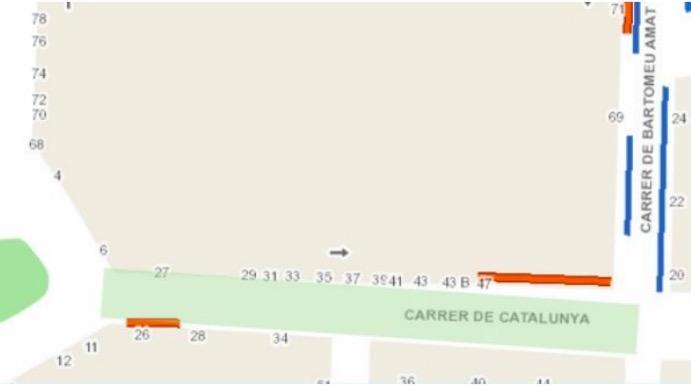 Mapa amb la zona afectada per les obres en les canonades d'aigua | Aj. Terrassa