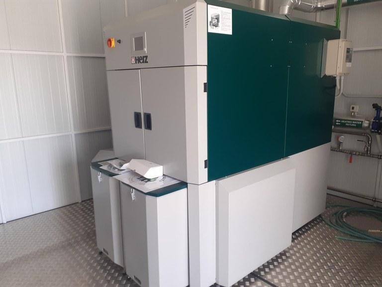 La caldera de biomassa que donarà servei a les escoles de Viladecavalls | Aj. Viladecavalls