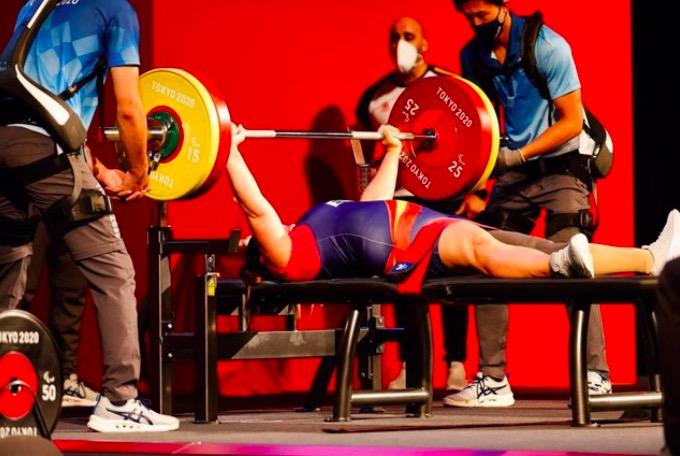 Montse Alcoba durant la seva participació als Jocs Paralímpics   Mikaeñ Helsing - CPE