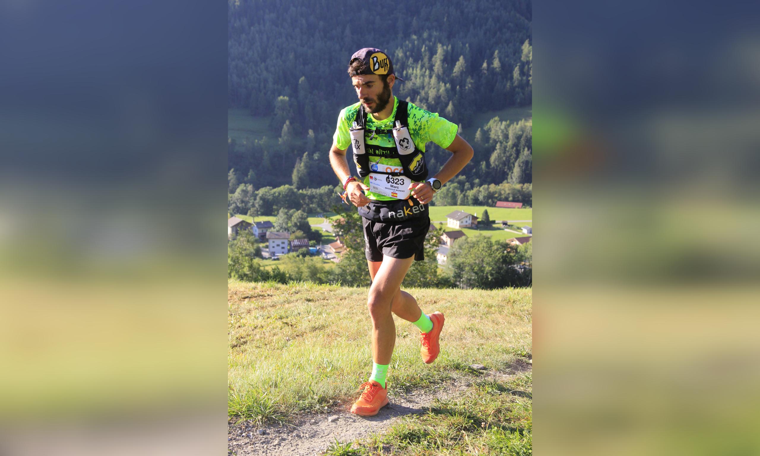 Marc Massagué corrent la ultra de Montblanc aquest estiu   Cedida