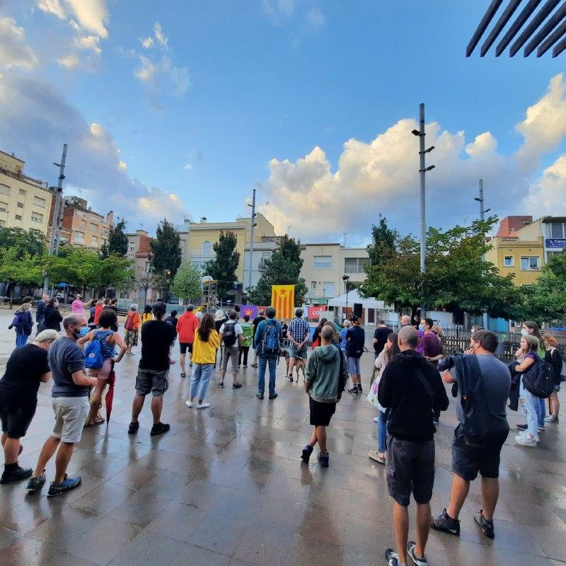 Acte de l'esquerra independentista aquesta tarda a la plaça del Progrés | CUP Terrassa