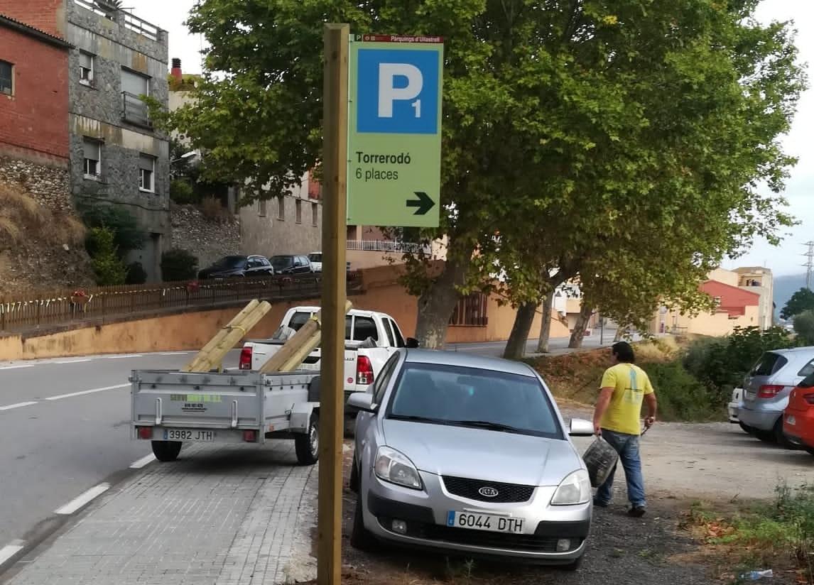 Nova senyalització als aparcaments dUllastrell | Aj. Ullastrell