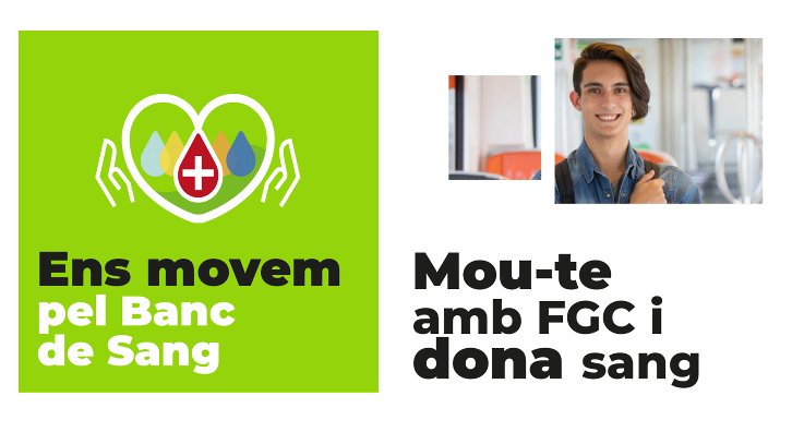 Cartell de FGC per fomentar les donacions de sang | FGC