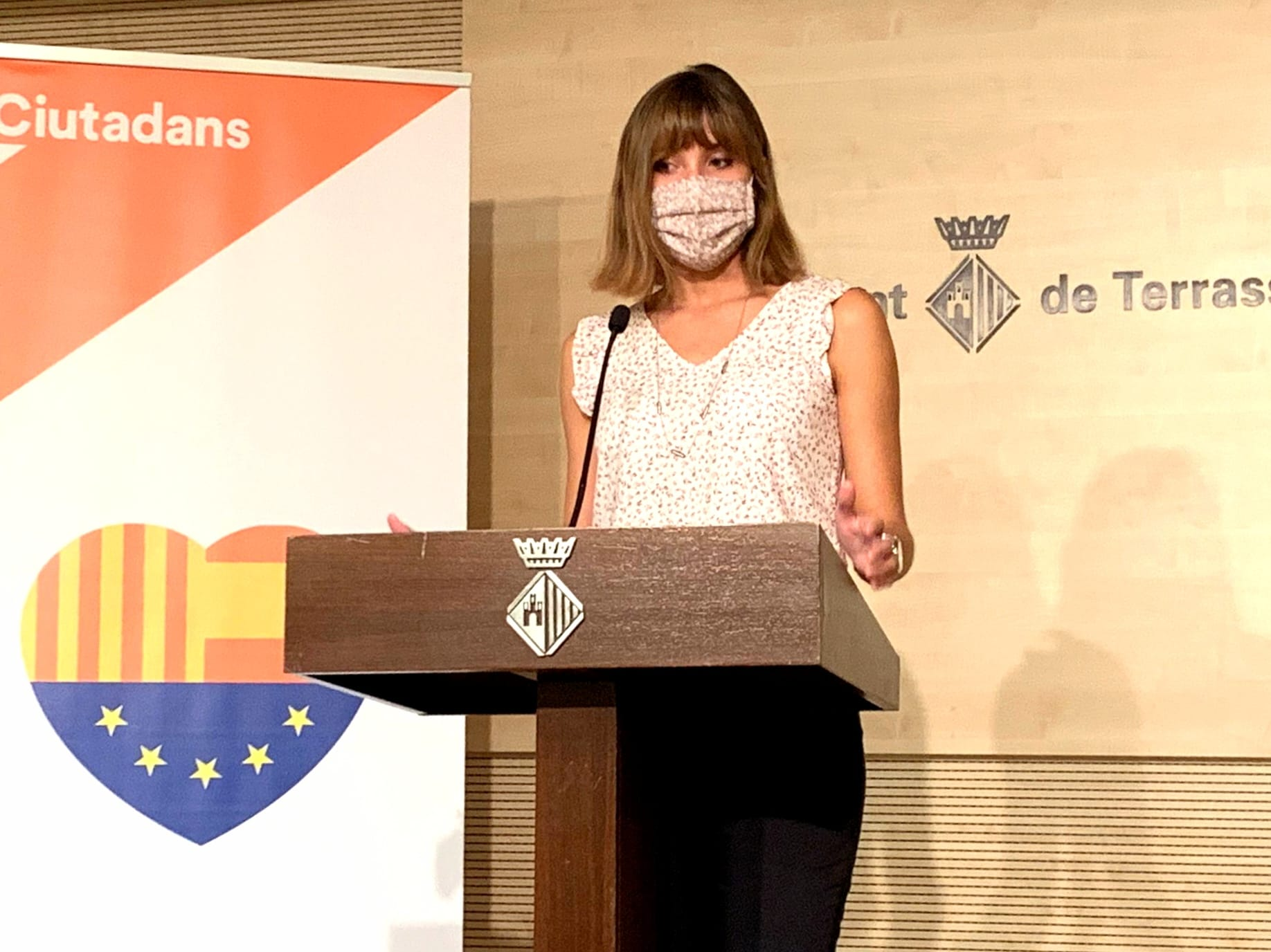 La regidora de Ciutadans, Isabel Martínez