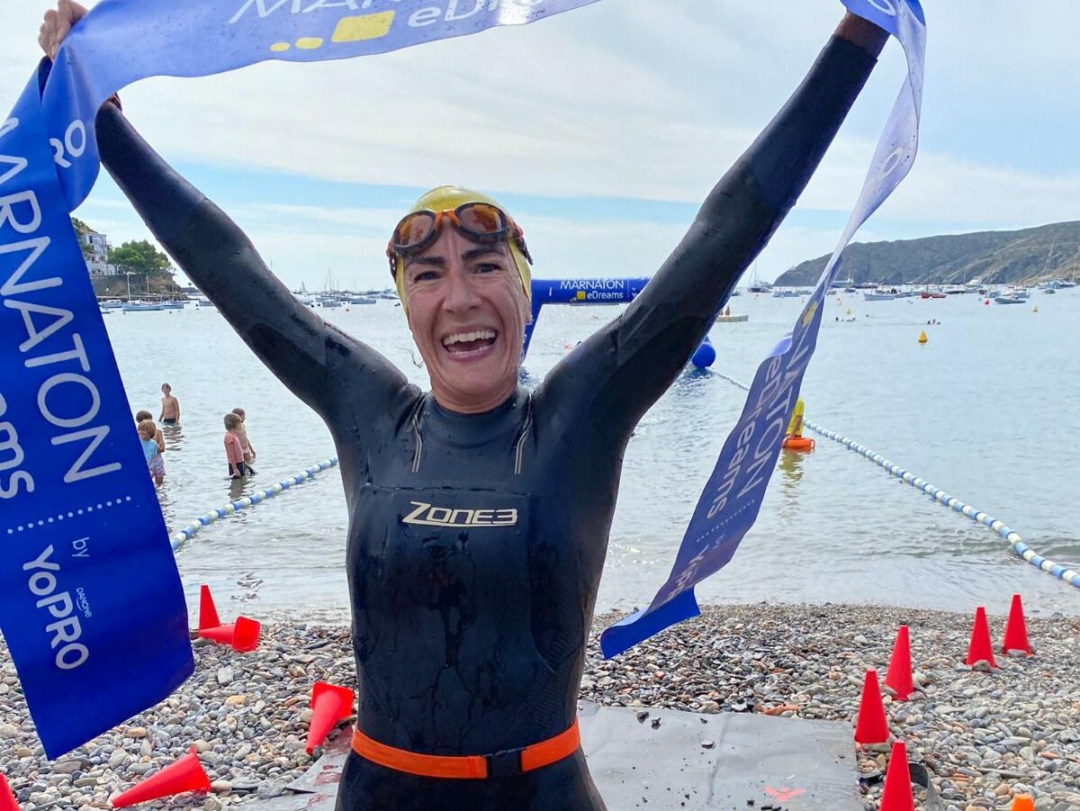 Sònia Rojas, guanyadora de la prova 4'5 quilòmetres | Marnaton eDreams