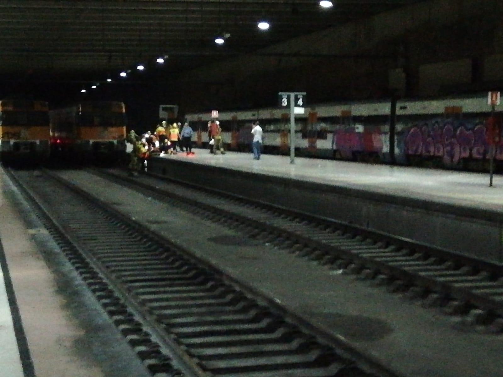 Atropellament a l'estació de Renfe de Terrassa/Marcel Marsal