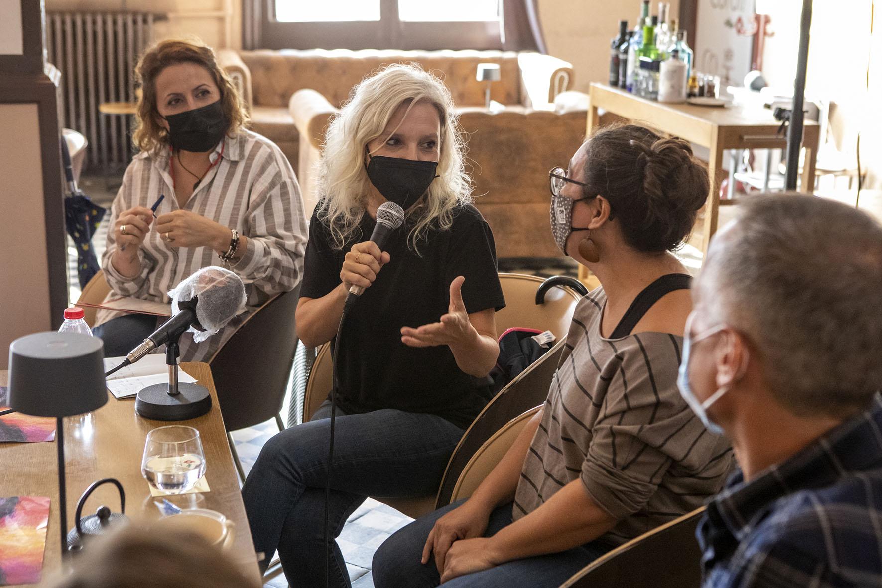 Polo, Boladeras, Aran, Martí i Ortega durant la presentació del festival CreativaMent | Ajuntament de Terrassa