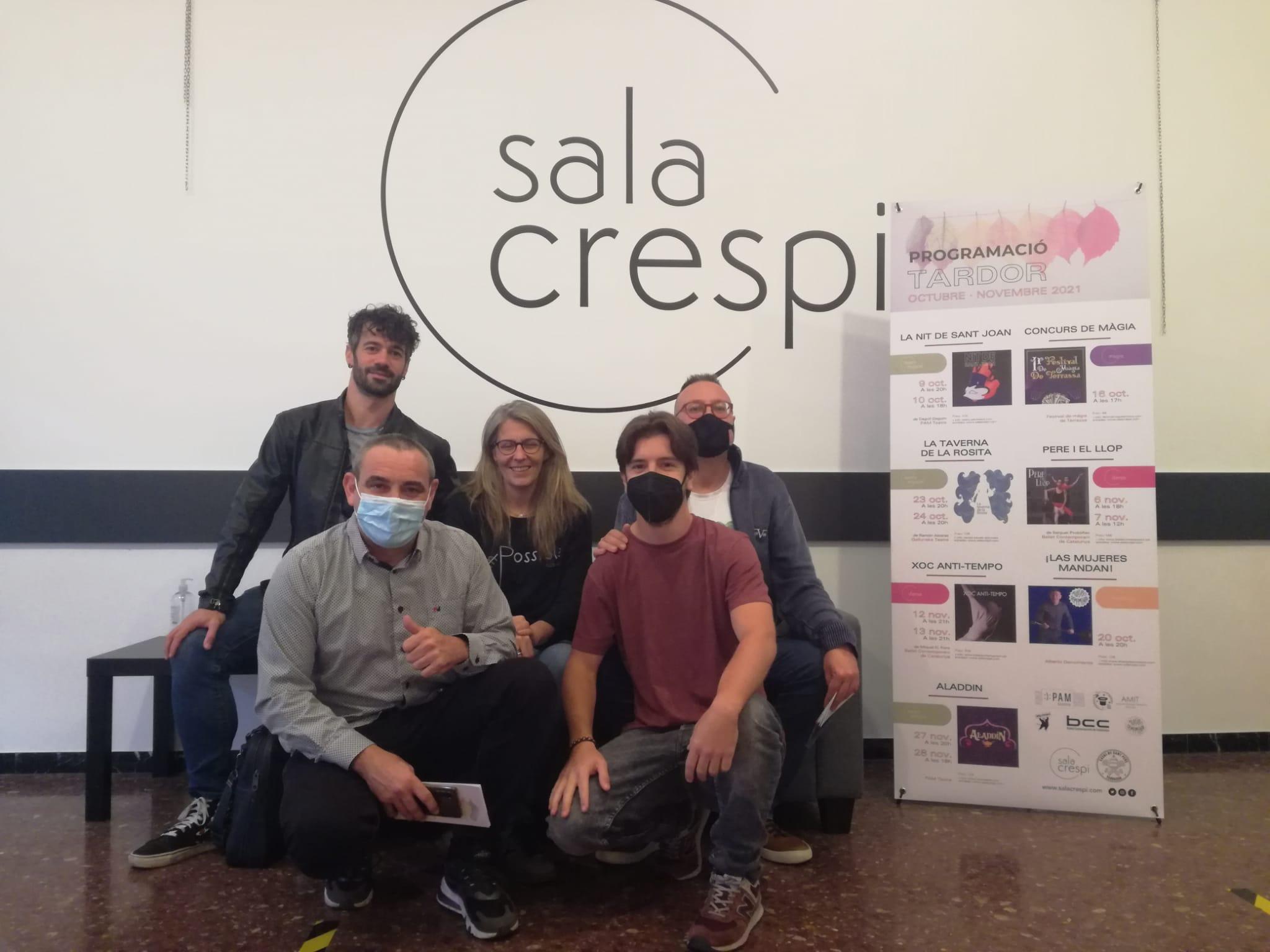 Miquel G. Font, Silvia Bartés, Josep Manel Martínez, José Carlos Muñoz i Alberto de Momento a la Sala Crespi | Laura Gómez