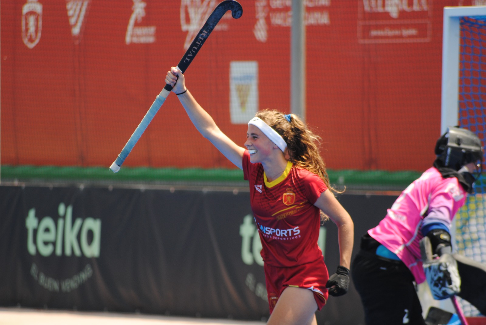 Una jugadora de la selecció espanyola d'hoquei sub21   RFEF