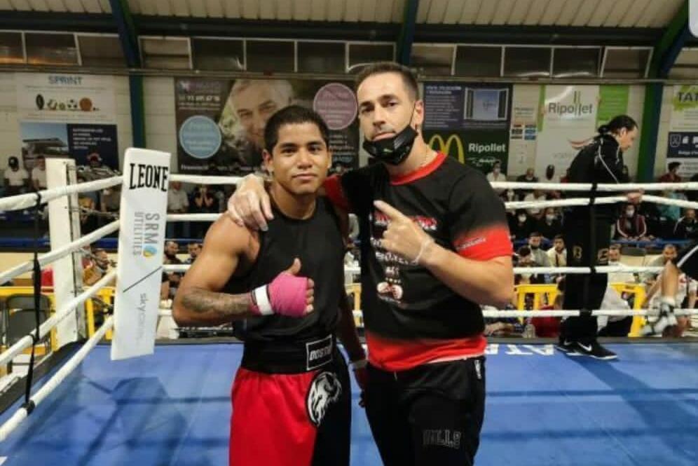 Dostin Ortiz i el seu entrenador | Team Sergio León