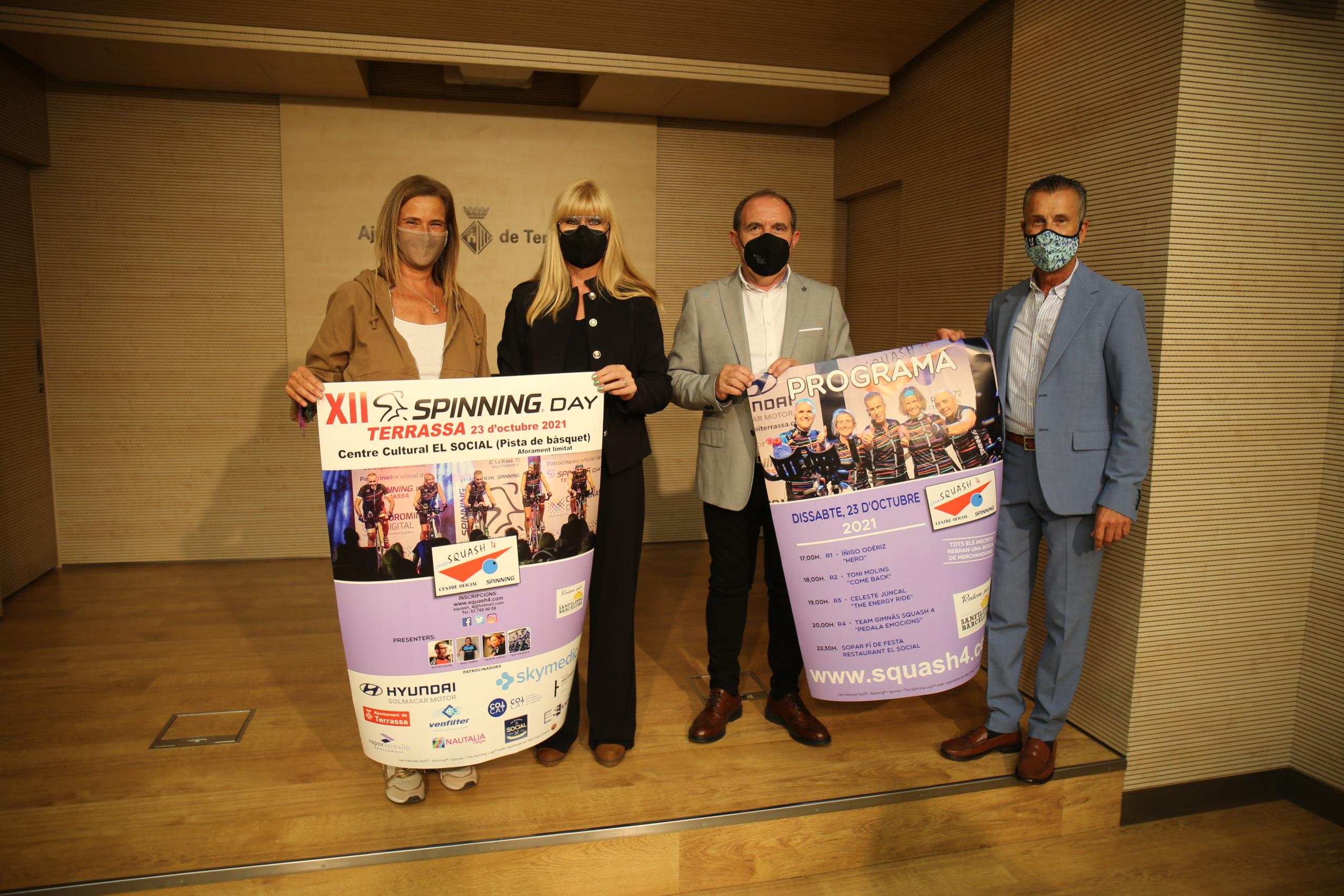 Presentació de la dotzena edició de l'Spinning Day   Ajuntament de Terrassa